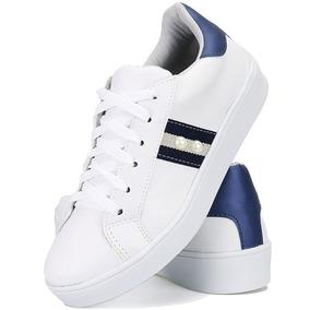 be856c67073 Tenis Branco Com A Ponteira Prateado - Sapatos no Mercado Livre Brasil