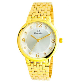 9dd18a6d3b4 Kit Relogio Champion Dourado Feminino Bahia - Relógios De Pulso no ...