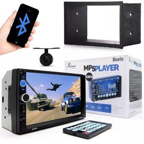 Central Multimídia Bluetooth 2din Fiesta 2005-2012 + Moldura