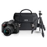 Kit Camara Digital Reflex Nikon D5600 + Tripie + Estuche+sd