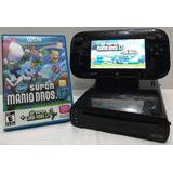 Nintendo Wii U Black 32gb (140) + Super Mario Chacao