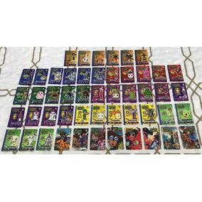 50 Cards / Tazos Elma Chips Digimon Coleção Completa