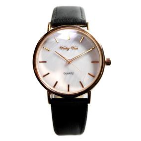 Reloj Dama Análogo Mujer Piel Autentica Y Acero Inoxidable
