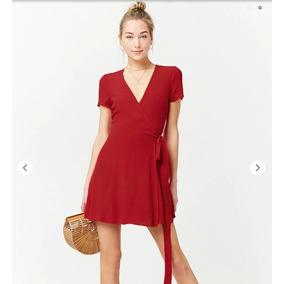 Vestido Cruzado Rojo Forever 21
