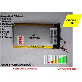 Bateria Universal 2 Fios 3400mha 3,7v Medida 12x6x0,3cm Obá