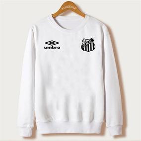 Blusa Moletom Santos Futebol Club Gola Redonda Casaco Top 6a859fde84f04