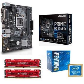 Pentium Gold G5400 + Asus H310m-d + 2x 4gb Ddr4 2400 Crucial