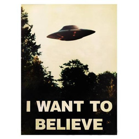 Poster X-files I Want To Believe Diseño Original 40 X 60 Cm