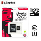 Memoria Micro Sd Kingston 32gb Clase 10 80x Canvas Select