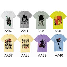 5 Camisetas Filmes Nerds Cult Cinema Top Plus Size Kit Rbt