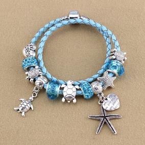 Pulseira Charme Azul Do Mar