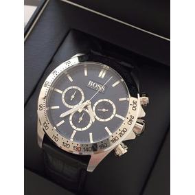 Relógio Hugo Boss Masculino Couro Ikon Cronógrafo-1513178