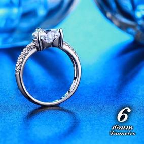 Compromiso Corazón Plata Ley 925 Diamante Cultivad