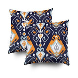 Emmteey Funda De Cojín Para Sofá Moderna Color Naranja Azul