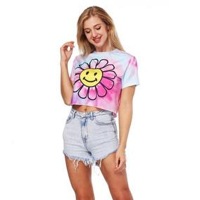 b0c3e7768c12d Ropa Dama Camiseta Tops Diseño Manga Corta Girasol Blusa