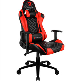 Cadeira Gamer Thunder X3 Reclinável Tgc12 Vermelha Thunderx3