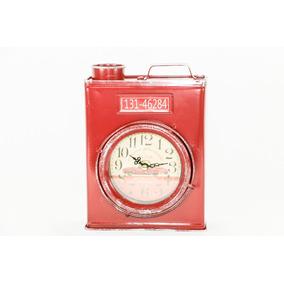 Relógio Galão De Combustível Latão Retro Vintage