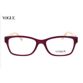 Armacao Para Oculos De Grau Vogue Bege - Óculos no Mercado Livre Brasil 14756273a9