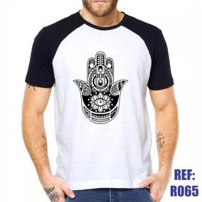 Camiseta Esotérica Símbolo Mão De Fátima - Camisetas para Masculino ... 45c6d753d89