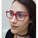 Armação De Óculos De Grau Feminino Acetato Colorido Bless 002acf244b