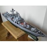 J Escala Barco Papel Destructor Misil Ruso 82cm (a Pedido)