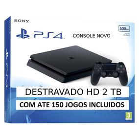 Playstation 4 Play Ps4 1000gb 5,05+2tb Hd +des+trava+do