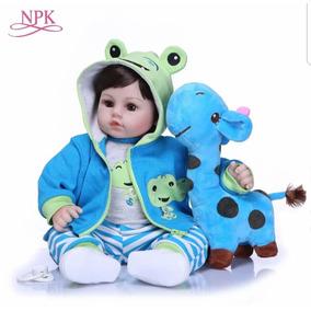 Bebe Reborn Menino Realista Girafa Boneca Reborn Npk