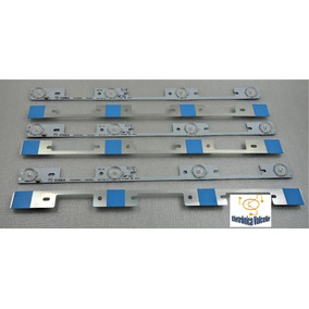 Kit 6 Barra De Led Tv Toshiba 40l2400/3944/45 Aluminio Nova