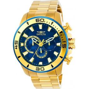 Relógio Masculino Invicta Pro Diver 22587 Banhado A Ouro 18k
