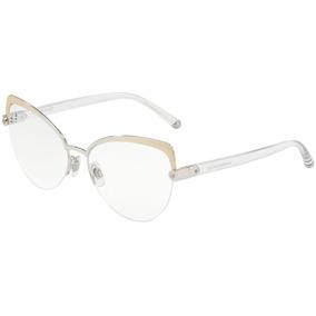 055b82413eed5 Armação Ovalada - Óculos Dourado no Mercado Livre Brasil