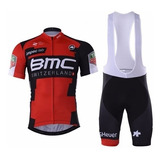 Conjunto Bmc Bretelle Uniforme Bike Ciclismo Speed Mtb