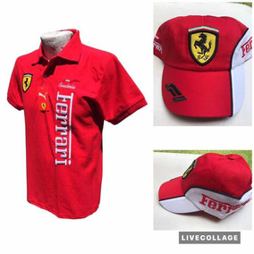 Gorra Y Playera Ferrari Unitalla