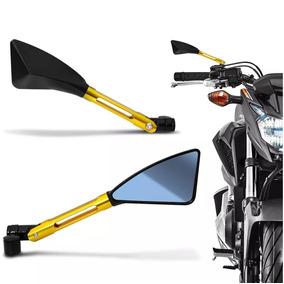 Retrovisor Moto Esport Tipo Rizoma Tomok Alumínio Cb300 Mt