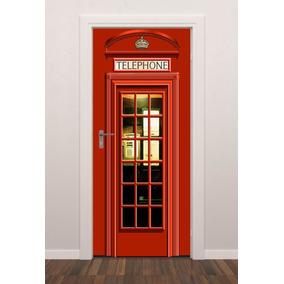 Adesivo Parede Porta Cabine Telefônica Londres Sala Ct071