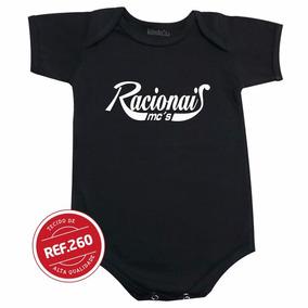 Body Racionais Bebê Bori Bodie Roupinha Camiseta Infantil 82907ee441941