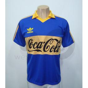 Camiseta Boca Juniors Retro Coca Cola 1992 Maradona Nº 10