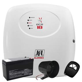 Kit Central Choque Cerca Elétrica Ecr18 Alarme Com Controle