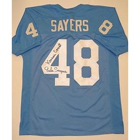 Gale Sayers Autografió El Estilo De La Camiseta Azul Lt Coll c2dbe4ef2b453