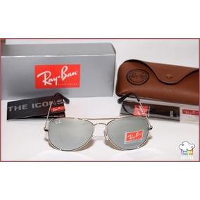 2630fd013a9b5 Ray Ban 3024 Aviador Prata Lentes Espelhadas .!! Avitor !! - Óculos ...