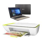 Notebook Asus Intel Dual Core 4gb 500gb + Impresora Hp 2135