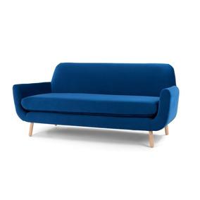 Sofá Orsay 3 Personas Estilo Minimalista Color Azul Rey 91600da6e6c