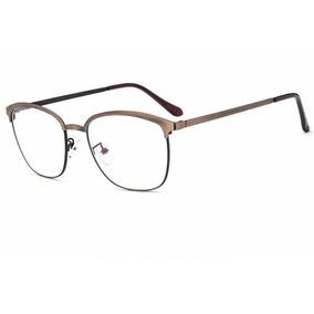052e6be192086 Óculos Quadrado Armação   Vintage   Retrô   Marrom E Preto - Óculos ...