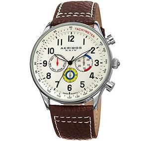 Akribos Xxiv Mens Ak751 Swiss Quartz Movement Watch With Mat