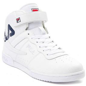 Tenis Fila F13 Blanco Bota Piel Retro Sneaker Basket