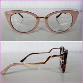 b3477c14ef0fc Óculos De Grau Fendi Ff018 Completo Estojo Flanelinha  3018