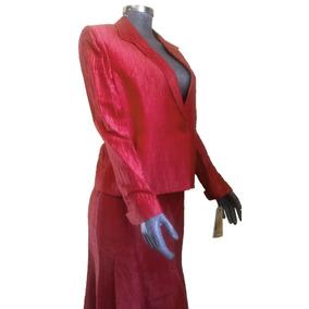 Traje Elegante Para Dama Con Falda, Rojo, Charme