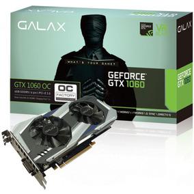 Placa De Video Pci-e 6gb Gtx 1060 192 Bits Ddr5 Galax Oc