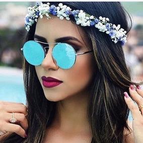 Oculos Redondo Espelhado Azul Barato - Calçados, Roupas e Bolsas no ... d3b3281c0c
