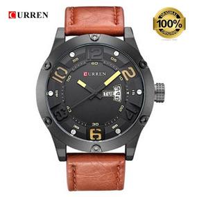 Relógio Masculino Curren 8251 Preto/marrom Nf+brinde