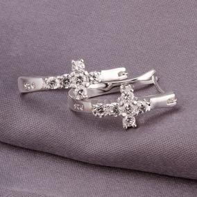 Brinco Crucifixo Prata 925 - Lindo